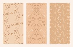 Elegance seamless backgrounds. For design Stock Image