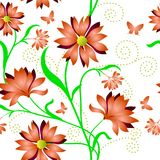 Elegance Seamless color pattern on background Royalty Free Stock Image