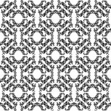 Elegance seamless pattern with decoration floral tracery on a wh. Ite background Stock Image