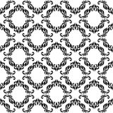 Elegance seamless pattern with decoration floral tracery on a wh. Ite background Stock Photography