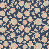 Elegance seamless pattern with ethnic flowers Stock Photos