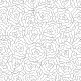 Elegance Seamless pattern with flowers for coloring book Stock Photography