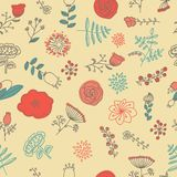 Elegance Seamless pattern with flowers Royalty Free Stock Photos