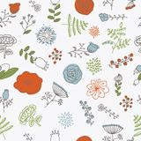 Elegance Seamless pattern with flowers Royalty Free Stock Image