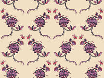 Elegance Seamless pattern with flowers ornament Royalty Free Stock Image
