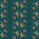 Elegance Seamless pattern with flowers ornament Royalty Free Stock Photo