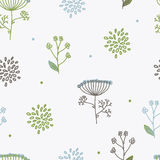 Elegance Seamless pattern with flowers, Ukraine, dill Royalty Free Stock Photos