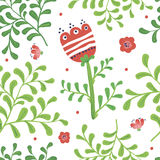 Elegance Seamless pattern with flowers Royalty Free Stock Images