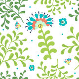 Elegance Seamless pattern with flowers Stock Images