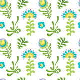 Elegance Seamless pattern with flowers Stock Photography