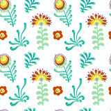 Elegance Seamless pattern with flowers Stock Image