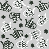 Elegance  seamless pattern with kettles  and seamless pattern in Royalty Free Stock Image