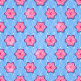 Elegance Seamless Pattern with Pink Flowers Stock Photo