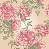Elegance Seamless peony pattern Royalty Free Stock Image