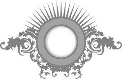 Elegance Silver Gray Floral Curves  Frame. Elegance Silver Gray Floral Curves Ornate Frame Stock Photo
