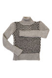 Elegance striped grey sweater on a white. Royalty Free Stock Photos