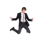 Elegance student jumping Royalty Free Stock Photos