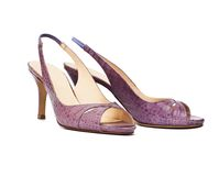Elegance summer female shoes Stock Photography