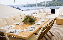 Elegance table outdoor Royalty Free Stock Photography