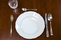Elegance tableware Royalty Free Stock Images