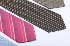 Elegance ties Stock Images