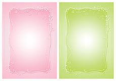 Elegance victorian backgrounds. In pink and green colors Royalty Free Stock Photo