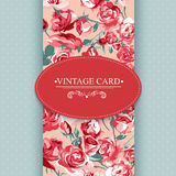 Elegance Vintage Floral Card with Roses Royalty Free Stock Photos