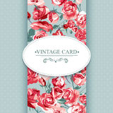 Elegance Vintage Floral Card with Roses Royalty Free Stock Images