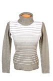 Elegance warm winter sweater on a white. Stock Image