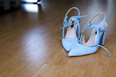 Elegance of woman depends on her shoes Royalty Free Stock Photography