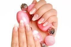 Elegance woman nails Stock Photo