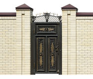 Elegance  wrought  door. Stock Photography