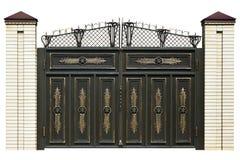 Elegance  wrought  gate. Stock Image