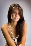 Elegance young beautiful woman posing Stock Photos