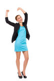 Elegance young woman celebrating success. Royalty Free Stock Photos