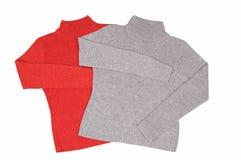 eleganci ładny pulowerów dwa biel Obraz Stock