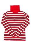 eleganci czerwieni pasiasty puloweru biel Zdjęcie Stock