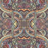 Elegancia de Boho, ornamento étnico del vintage Modelo natural de la planta floral abstracta Elementos decorativos multicolores H Fotografía de archivo