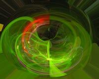 Elegancia futurista del efecto del fractal digital digital abstracto del modelo, stock de ilustración