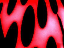 Elegancia negra y roja Óvalos negros en un fondo rojo Foto de archivo libre de regalías