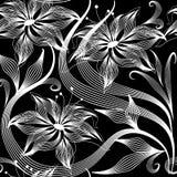 Elegancja abstrakt kwitnie wektorowego bezszwowego wzór royalty ilustracja