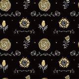 Elegancja Bezszwowy wzór z kwiatami ilustracji