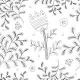 Elegancja Bezszwowy wzór z kwiatami dla kolorystyki książki ilustracji