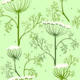 Elegancja Bezszwowy wzór z kwiatami, Ukraina ilustracja wektor