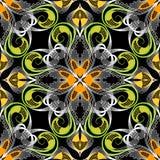 Elegancja koronkowy kwiecisty wektorowy bezszwowy wzór Delikatny ornamenta ilustracja wektor