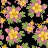 Elegancja kwiatów Bezszwowy tło ilustracja wektor