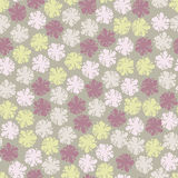 Elegancja kwiatu bezszwowy pastelowy wzór royalty ilustracja