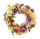 Elegancja kwiatu girlanda - Sztuczna obraz royalty free