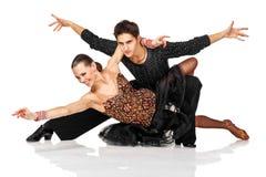 Elegancja Latynoscy tancerze w akci zdjęcie stock