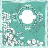 Elegancja rocznika kwiecista rama royalty ilustracja